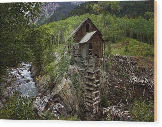 Crystal Mill Wood Print