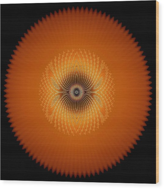 Crystal Orange Wood Print
