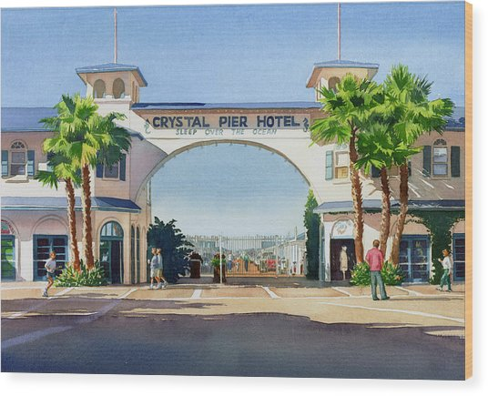 Crystal Pier Pacific Beach Wood Print