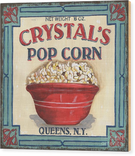 Crystal's Popcorn Wood Print