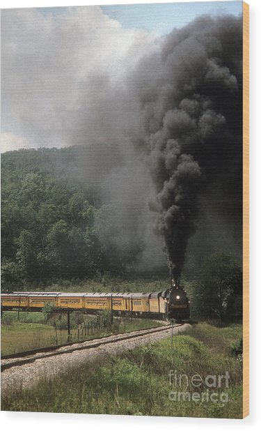Chessie Steam Special At Lineboro Md Wood Print