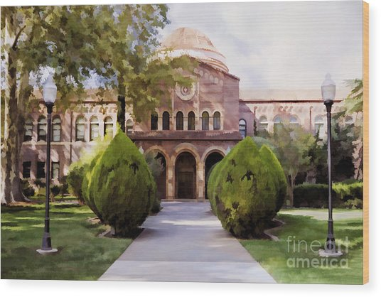 Csu Chico - Kendall Hall Wood Print