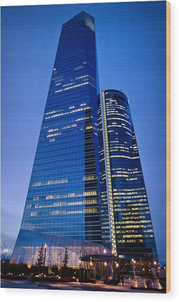 Cuatro Torres Business Area Wood Print