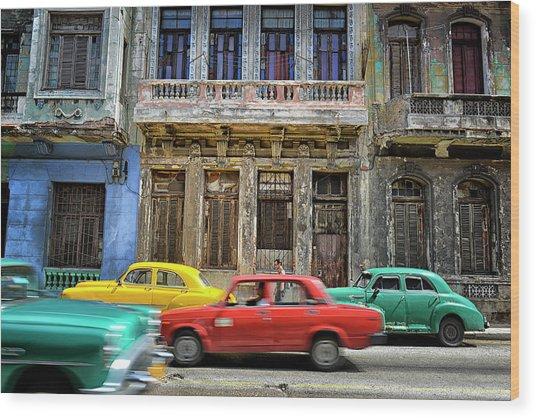 Cuba, Habana Wood Print