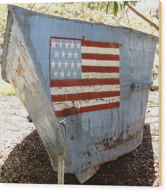 Cuban Refugee Boat 4 Wood Print
