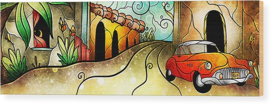 Cuban Street Wood Print