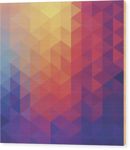 Cube Diamond Abstract Background Wood Print by Mustafahacalaki