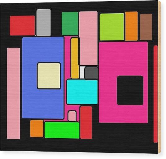 Cubes 67 Wood Print