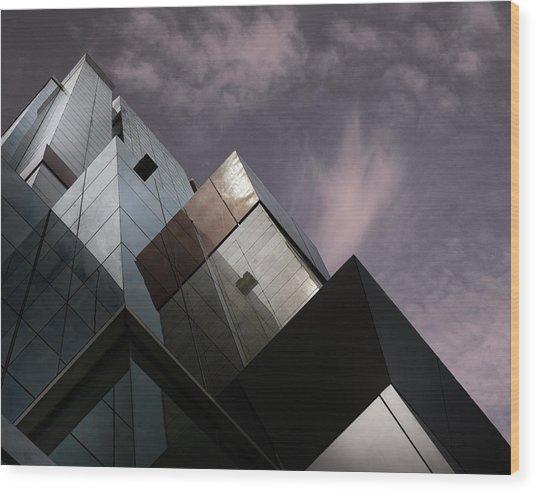 Cubic Reflection. Wood Print by Harry Verschelden
