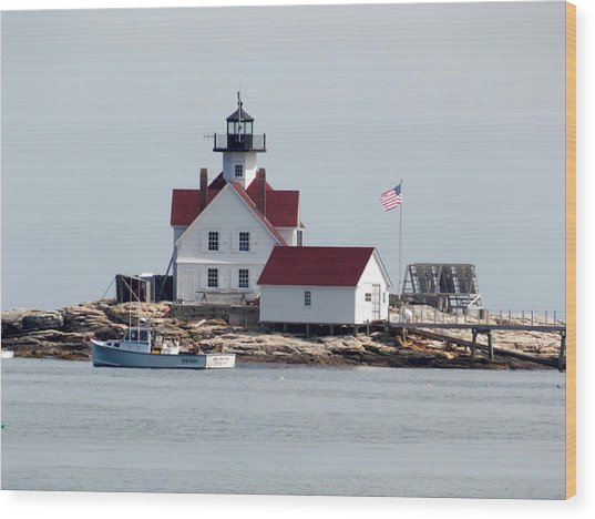 Cuckholds Lighthouse Wood Print
