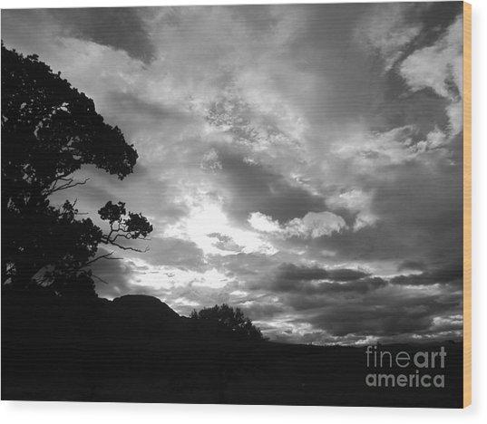 Culcreuch Sky Wood Print