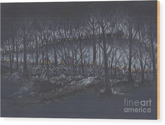 Culp's Hill Assault Wood Print