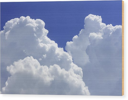Cumulus Clouds Wood Print
