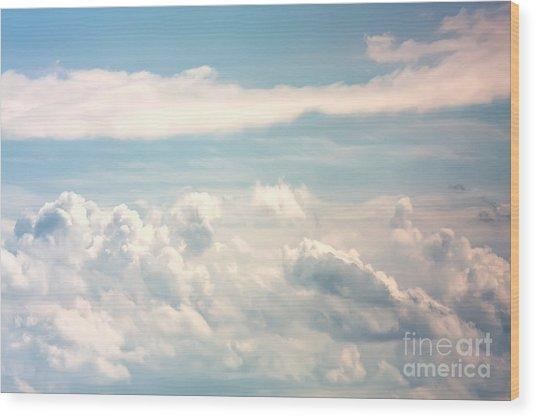 Cumulus Clouds Wood Print
