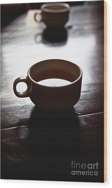 Cup Of Joe Wood Print