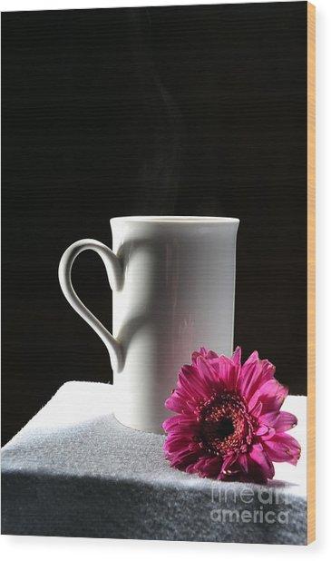 Cup Of Love Wood Print