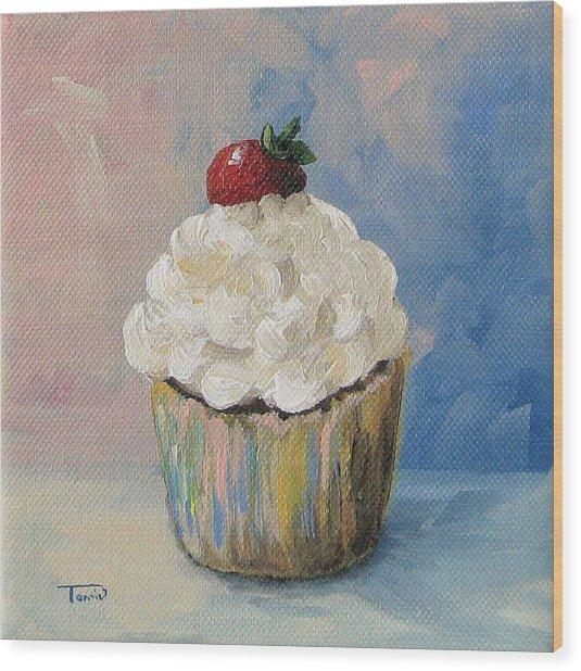 Cupcake 005 Wood Print by Torrie Smiley