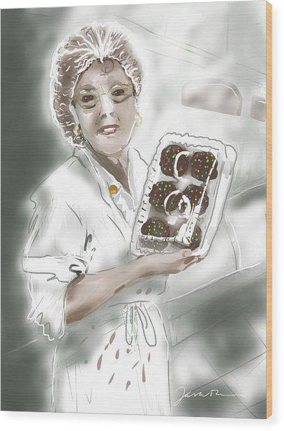 Cupcake Marge Wood Print