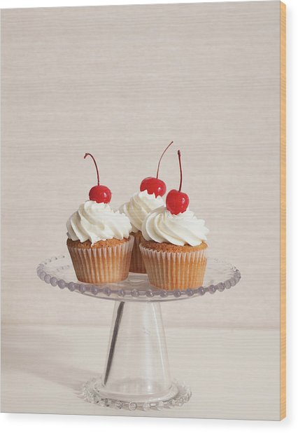 Cupcakes Wood Print by Photograph By Eric Isaac