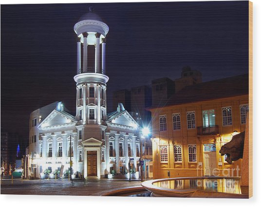 Curitiba - Centro Historico Wood Print