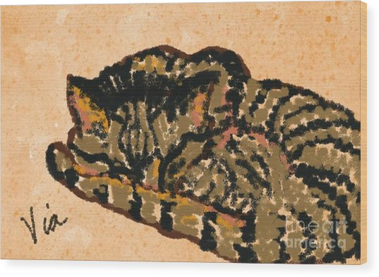 Curled Up Wood Print