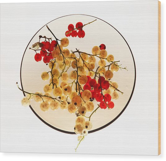 Currants On A Plate Wood Print