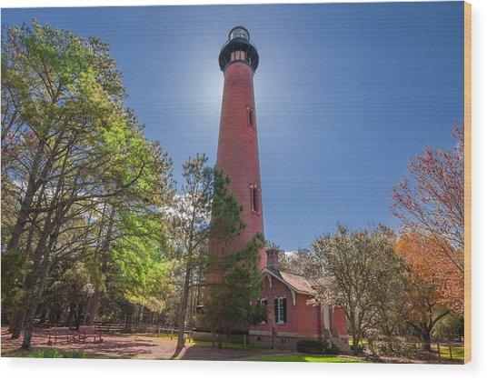 Currituck Beach Lighthouse  Wood Print