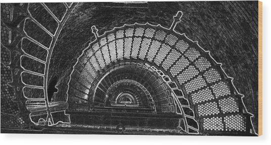 Currituck Lighthouse Stairs Wood Print