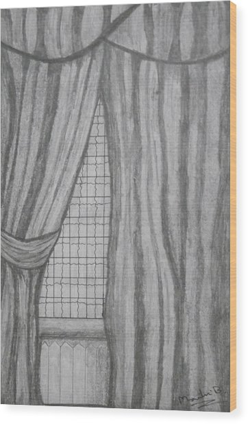 Curtains In A5 Wood Print