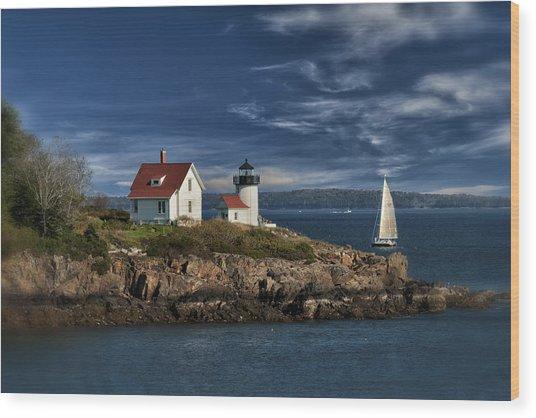 Curtis Island Lighthouse Maine Img 5988 Wood Print