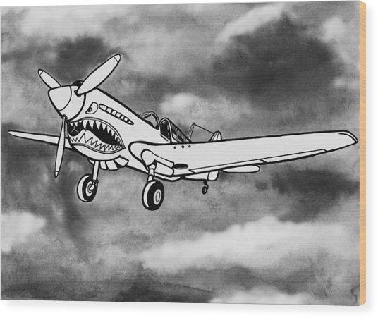 Curtiss P-40 Warhawk 2 Wood Print by Scott Nelson