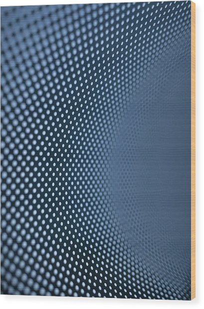 Curved Dot Pattern Wood Print by Ralf Hiemisch