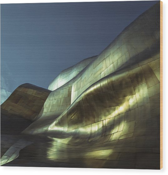 Curves Wood Print by Akos Kozari