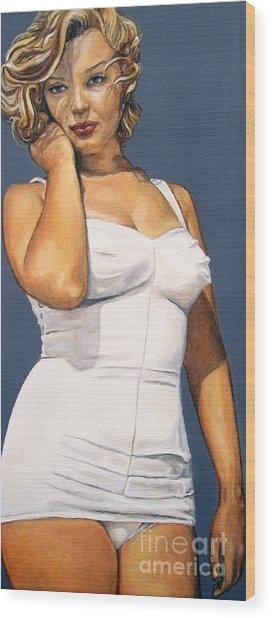 Curvy Beauties - Marilyn Monroe Wood Print