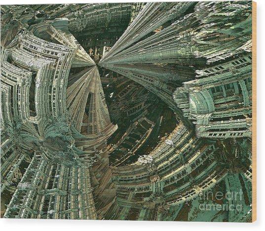 Curvy World Wood Print by Bernard MICHEL