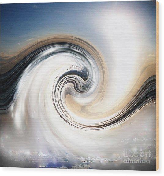 Custom Chrome Wave Wood Print by Jeffery Fagan
