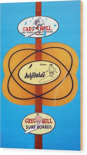 Custom Greg Noll Surfboards Wood Print