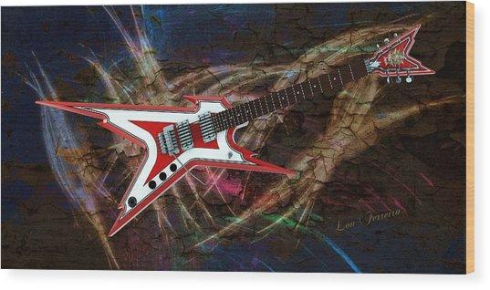 Custom Guitar  Wood Print