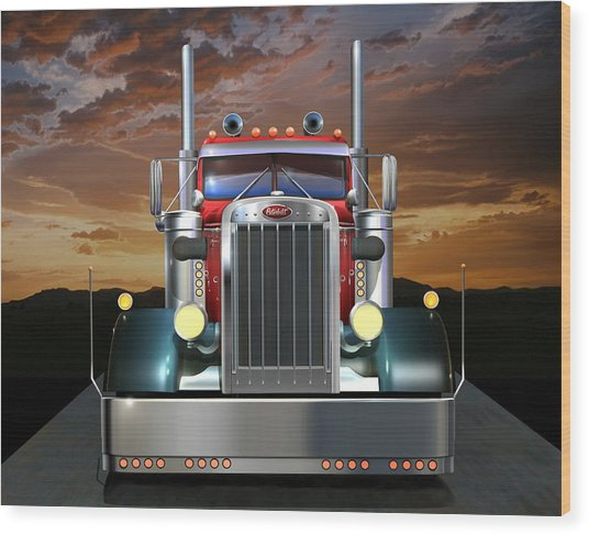 Custom Peterbilt Wood Print