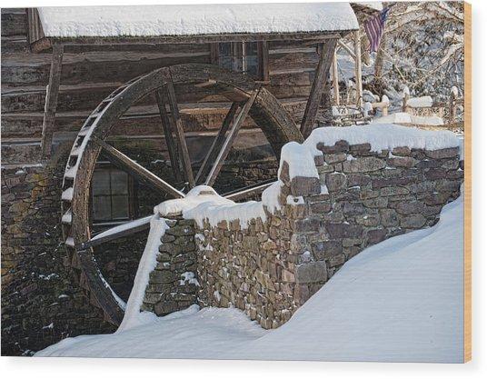 Cutalossa Water Wheel Wood Print