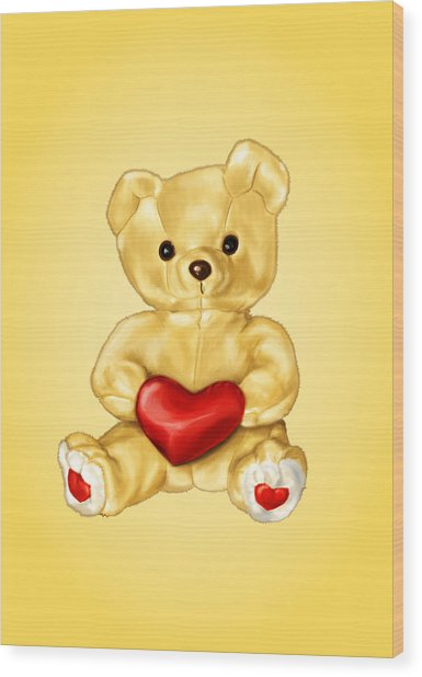 Cute Teddy Bear Hypnotist Wood Print