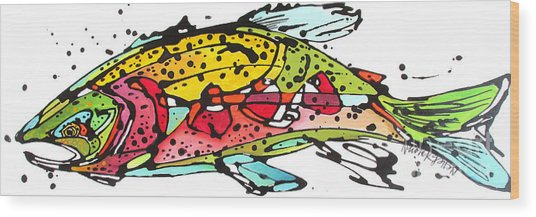 Cutthroat Trout Wood Print