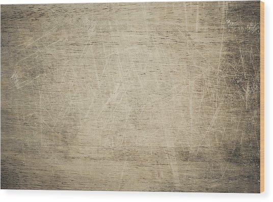 Cutting Board Background Wood Print