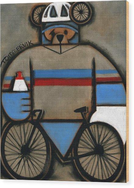 Tommervik Cycling Bear Wood Print