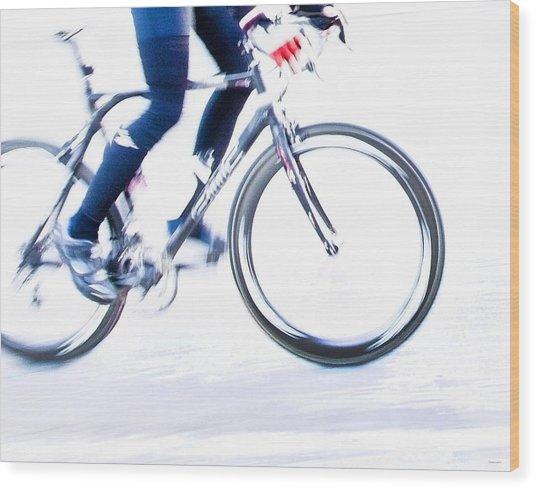 Cycling Wood Print