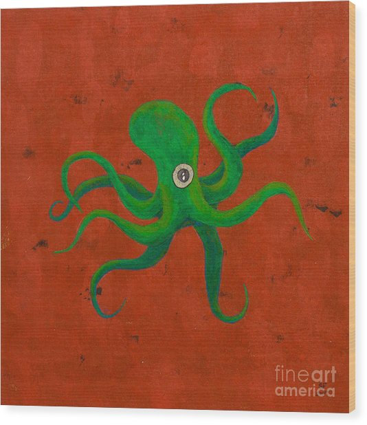 Cycloptopus Red Wood Print