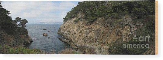 Cypress Cove Panorama Wood Print
