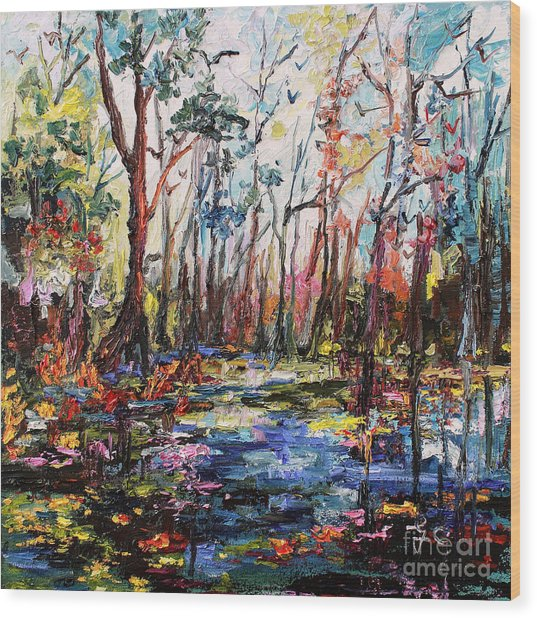Cypress Gardens South Carolina Wood Print