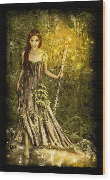 Cypress Queen Wood Print