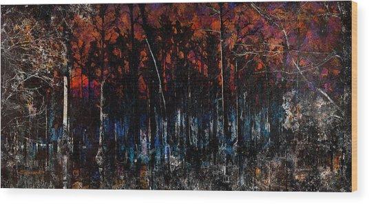 Cypress Swamp Abstract #1 Wood Print